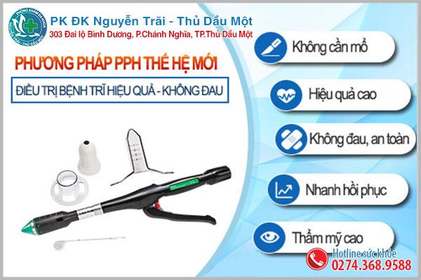 Hỗ trợ điều trị trĩ nội tại Đa khoa Nguyễn Trải - Thủ Dầu Một